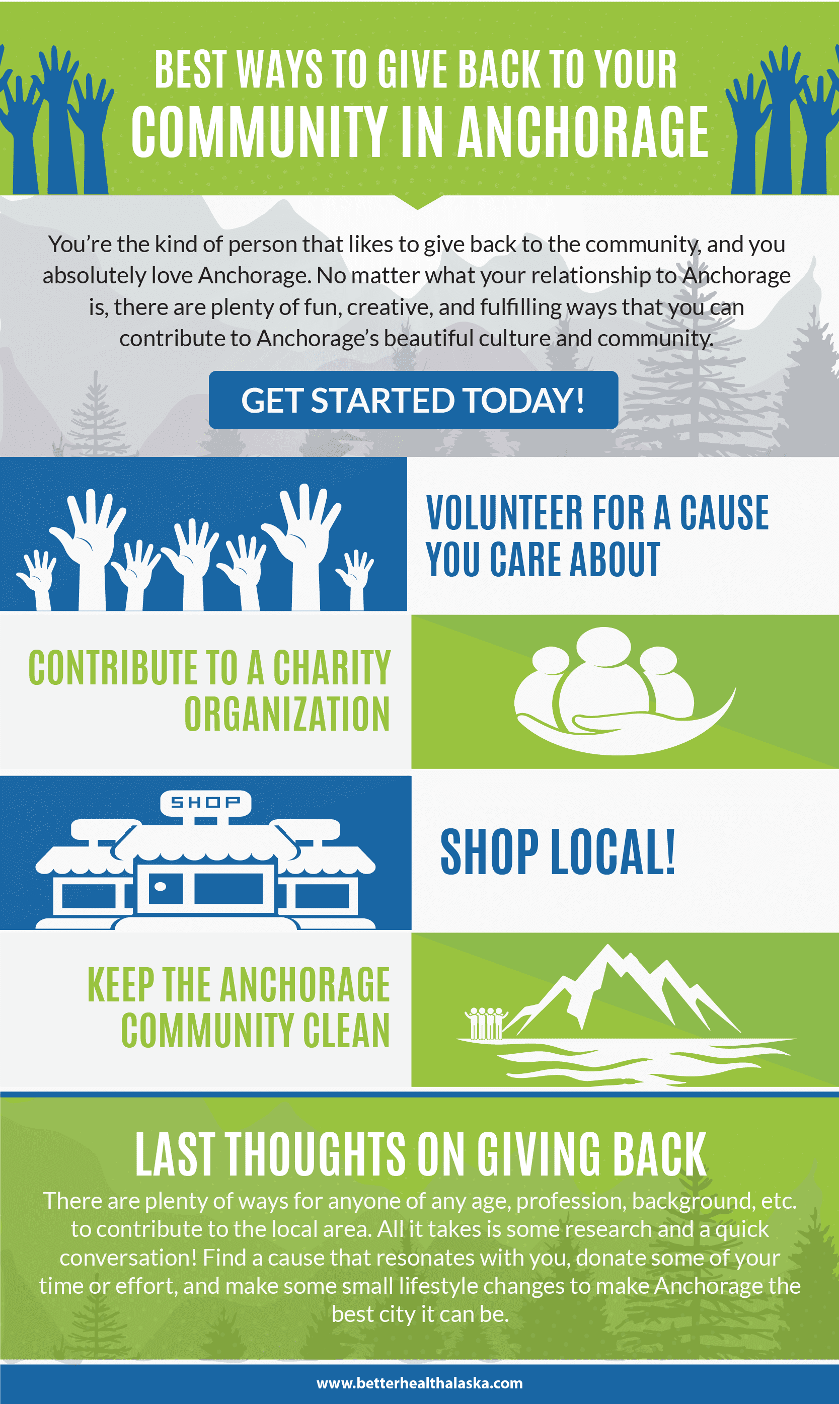 Best Ways To Give Back To Your Local Anchorage Community infographic