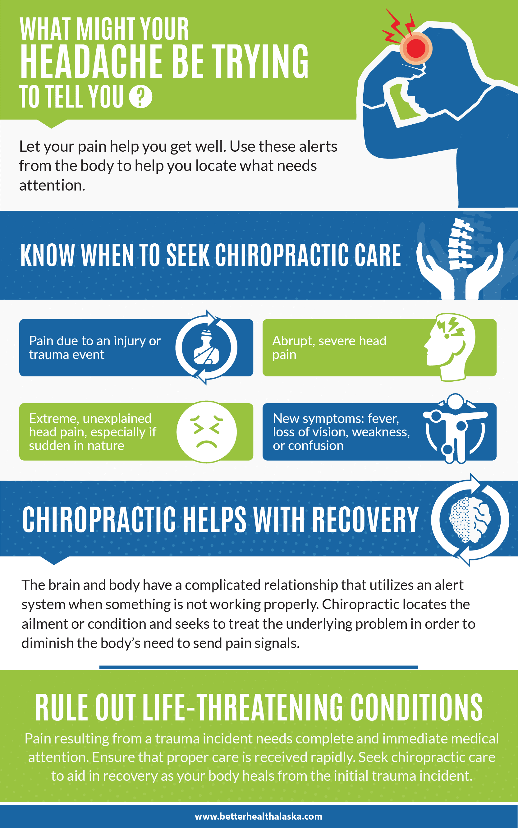 When to Worry About Your Headaches infographics