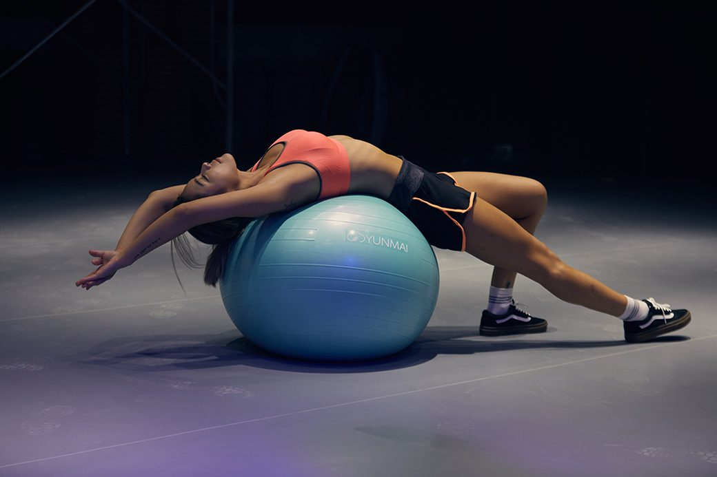 Yoga Workout on the Exercise Ball