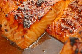 Ginger Glazed Baked Salmon