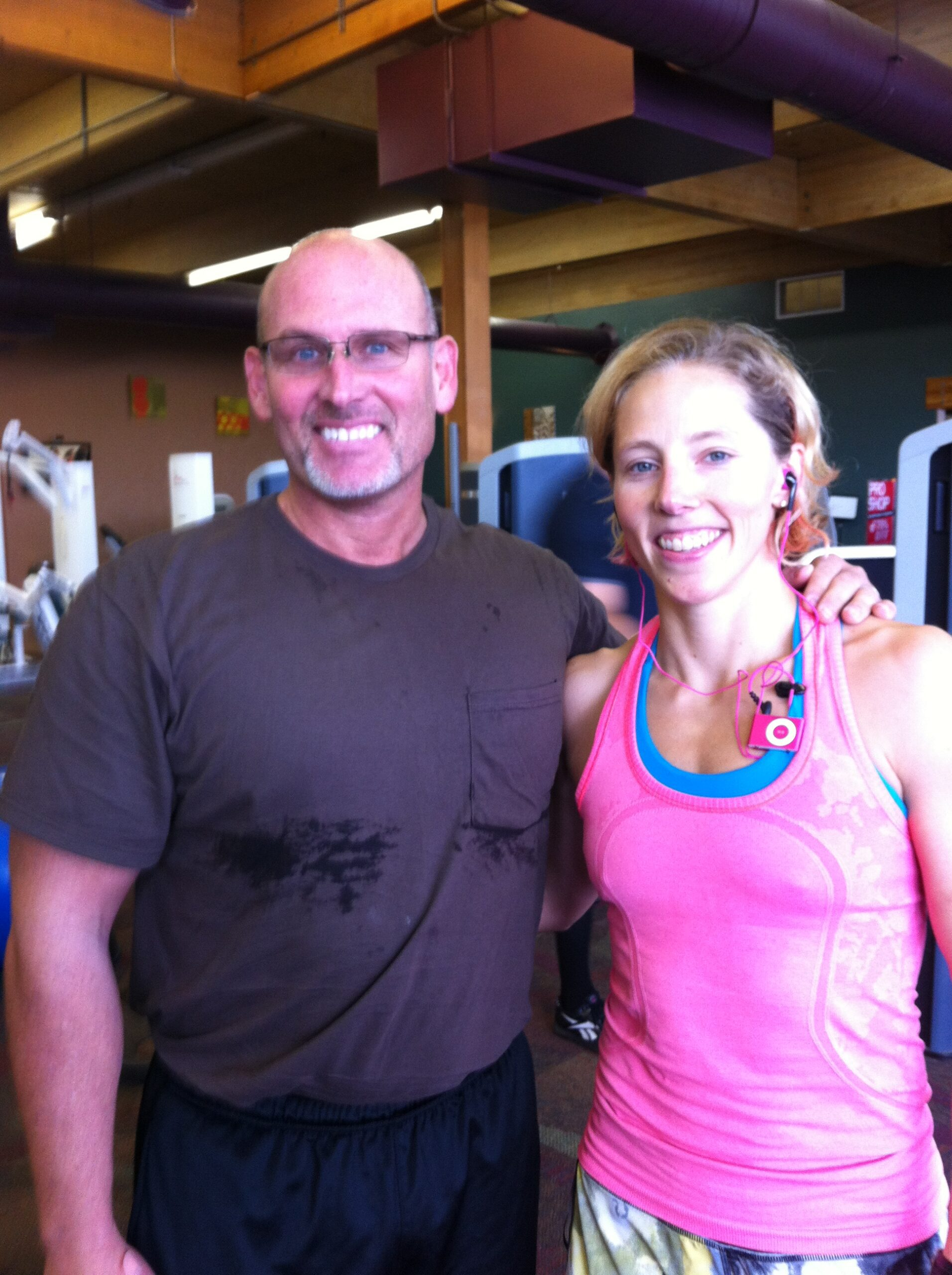 Dr. Brent Wells with Kikkan Randall - 5-time Olympic Skier